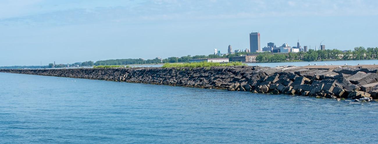 Buffalo Harbor south breakwater