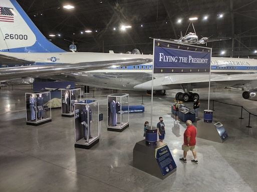 Overview picture of the Flying the President Exhibit.