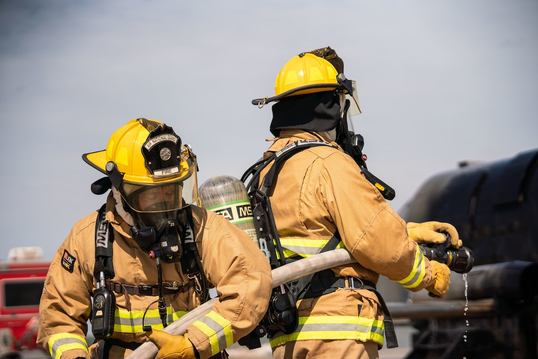 Air Guard Firefighters get hands-on training at Rosecrans