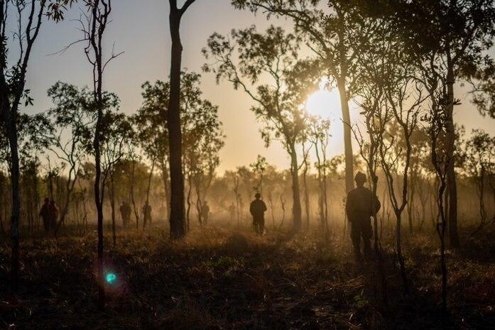 U.S. Marines participate in Exercise Koolendong at Mount Bundey Training Area, Australia, Sept. 5.