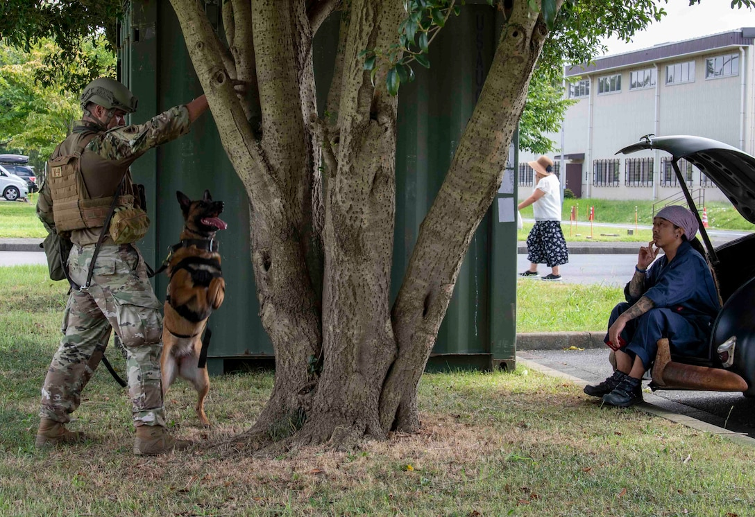 K-9s sniff out explosives on Sagami