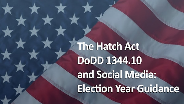 Graphic showing text over an American flag - text reads Election Year Guidance