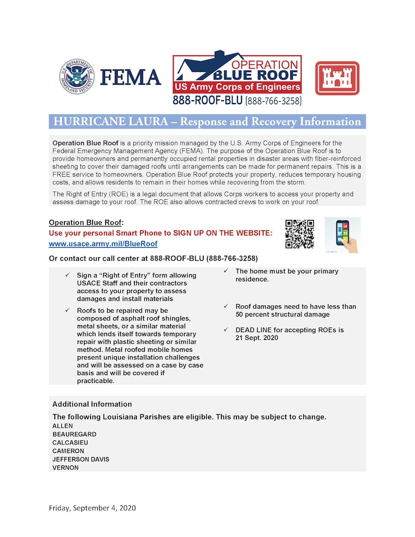 How to Sign Up for Operation Blue Roof