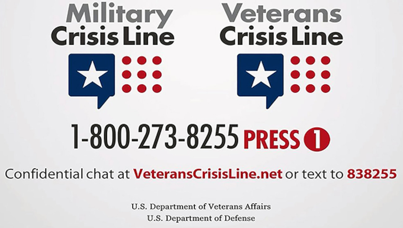 Graphics Military and Veterans Crisis Line