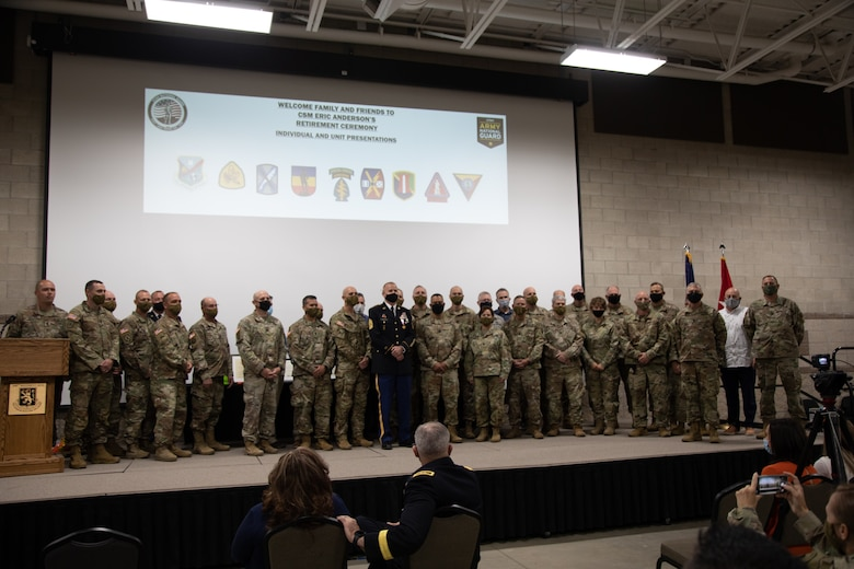 The Utah National Guard wished a fond farewell to  Command Sgt.  Maj. Eric Anderson during a celebratory retirement ceremony, Thursday, Sept 3.