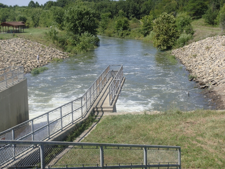 The U.S. Army Corps of Engineers conducts a two-foot drawdown bringing Smithville Lake to 862.20 mean sea level each December and hold it at that level through Apr. 15. This action will start a little sooner in 2020 to allow construction crews to work quickly and safely without the need to demobilize for spillway releases early in the project.