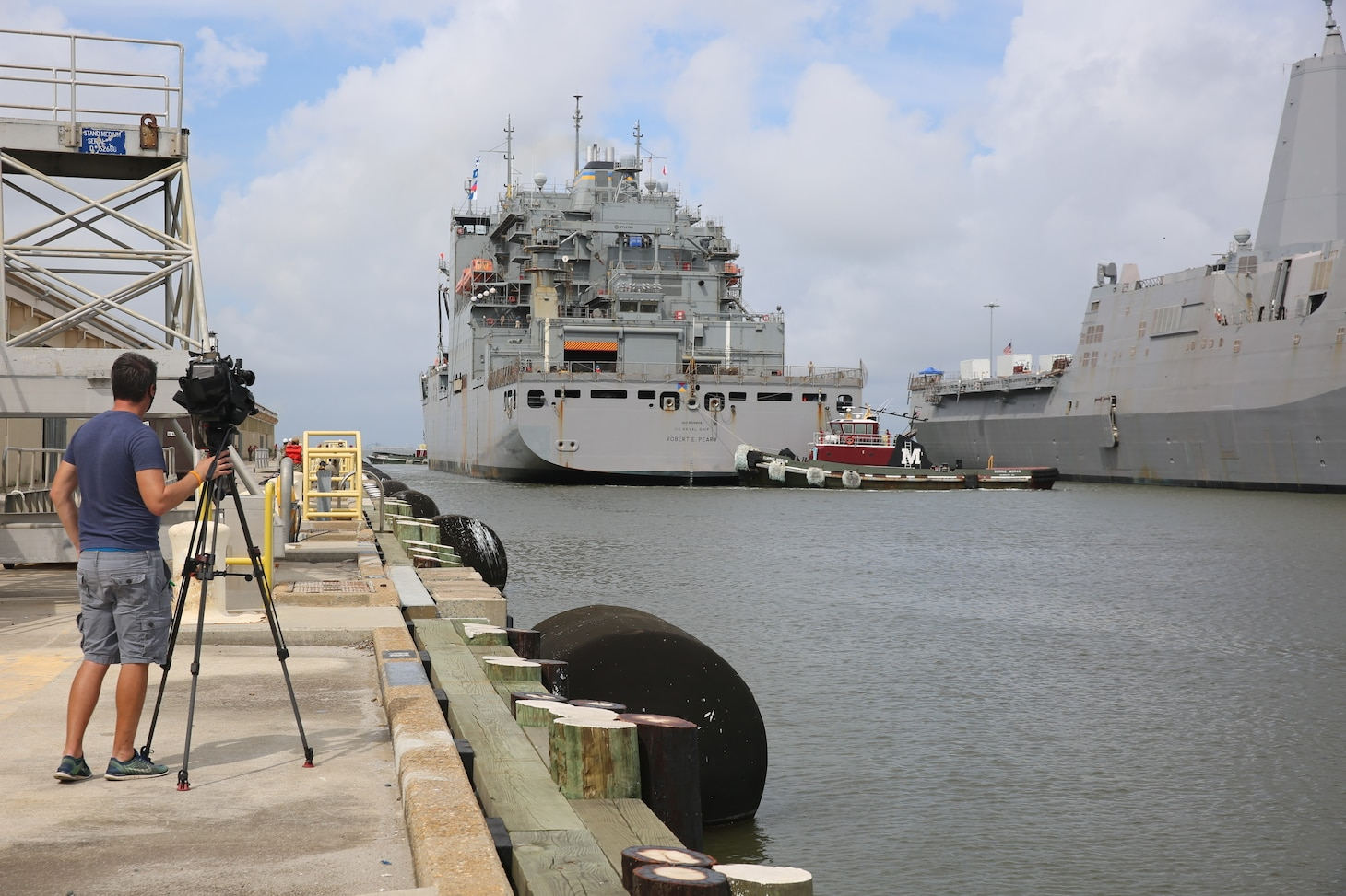 Military Sealift Command's Combat Logistics Force ship USNS Robert E. Peary (T-AKE 5) and the ship's 110 civilian mariners return to Naval Station Norfolk after a seven-month deployment in 2nd, 5th, and 6th Fleets, Sept. 8.