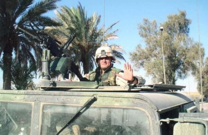 Lt. Col. Michael Rodriguez during his deployment to Iraq in 2003-2004. His older sister Lisa passed away in the World Trade Center on 9/11. On that day a horrific sequence of destruction, terrorists crashed two planes into the World Trade Center causing the twin 110-story towers to collapse, Lisa worked on the 89th floor of the South Tower. Courtesy Photo