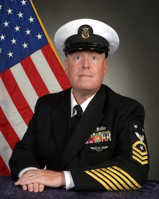 Official Portrait of Command Master Chief Steven Cosgrove