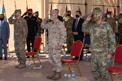 Combined Joint Task Force-Operation Inherent Resolve, the military organization to defeat Daesh in Iraq and Syria, swapped leaders during a change of command ceremony in Baghdad, Set. 9, 2020.