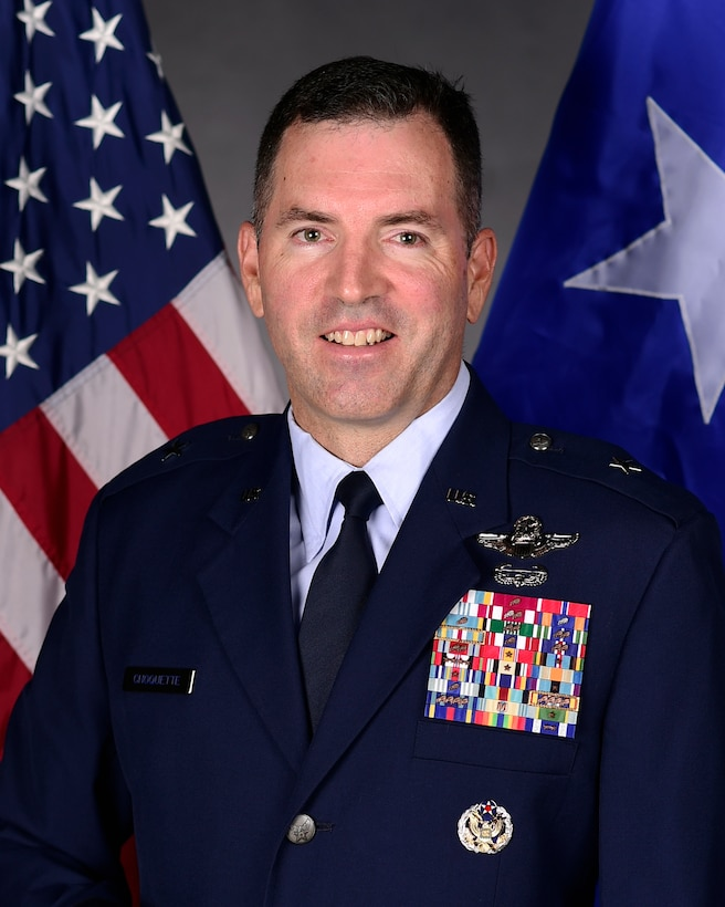 This is the official portrait of Brig. Gen. Sean Choquette.