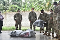 U.S. service members assigned to Joint Task Force-Bravo deliver charitable donations to the Horizontes al Futuro Orphanage in Comayagua, Honduras, Sept. 5, 2020. The donations given included food, clothing, and shoes for the children of the orphanage and the service members observed strict COVID-19 protocols while conducting the donation. Visits like these represent the long-lasting ties JTF-Bravo has established with the community and reinforce our partnership.
