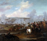 Battle of Blenheim, oil on canvas, by Joshua Ross, Jr., ca. 1715 (Courtesy Government Art Collection, London)