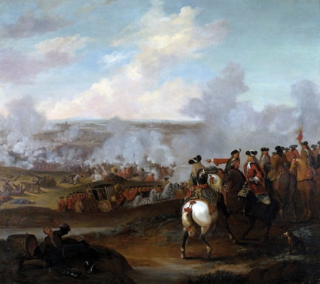 Battle of Blenheim, oil on canvas, by Joshua Ross, Jr.,
