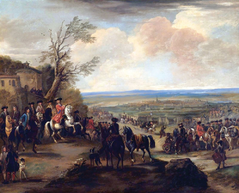 The Duke of Marlborough at the Battle of Oudenaarde (1708), oil on canvas, by John Wootton (Courtesy Sotheby's)