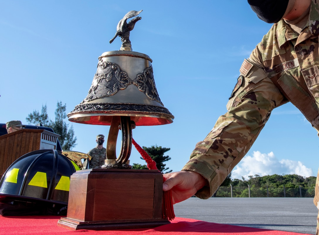 Kadena Fire Department conducted a 9/11 remembrance ceremony. During the ceremony, Team Kadena paid respects to the victims of the Sept. 11, 2001, terrorist attacks and to the fallen service members who lost their lives in the wars that followed.