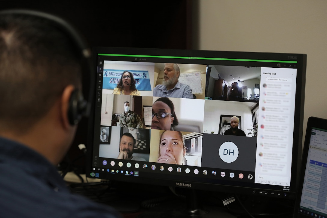 Army Reserve suicide prevention program managers begin their first virtual Stand for Life suicide prevention training event with 79 suicide prevention liaisons across Army Reserve units throughout the continental U.S.