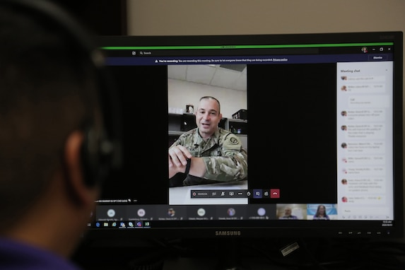 Brig. Gen. Ernest Litynski, commanding general of the 85th U.S. Army Reserve Support Command, gives opening remarks during the first virtual Stand for Life suicide prevention training event with 79 suicide prevention liaisons across Army Reserve units throughout the continental U.S.