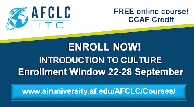 Enrollment Window Open for Introduction to Culture – 22-28 September