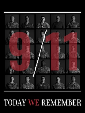 On the 19th anniversary of the Sept. 11, 2001, terrorist attacks on our nation, Team McConnell Airmen and civilian personnel remember and pay tribute to the nearly 3,000 Americans who lost their lives. Through the collective strength of the men and women of our nation — we have united, persevered and overcome tragedy.  (U.S. Photo Illustration by Airman 1st Class Nilsa Garcia)