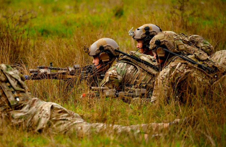 U.S. Army Soldiers from the 10th Special Forces Group conduct small unit tactic training on the range near Panzer Kaserne, Boeblingen, Germany, Oct. 24, 2019. (U.S. Army photo by Michele Wiencek)