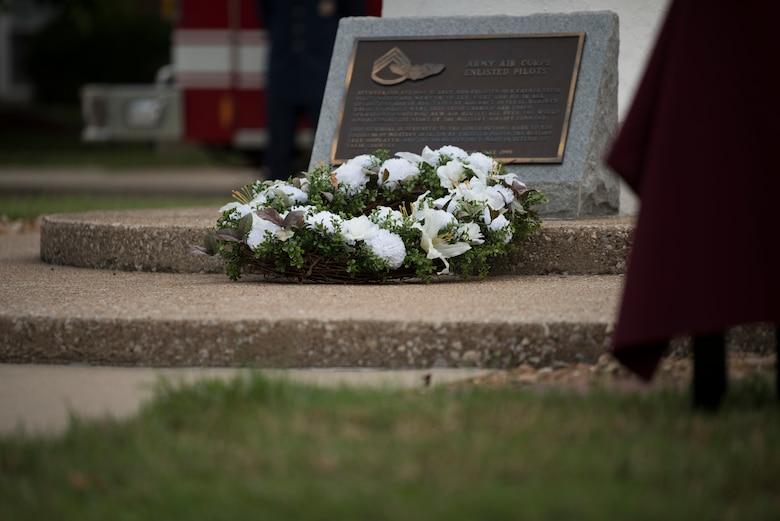 Wreath sits on ground
