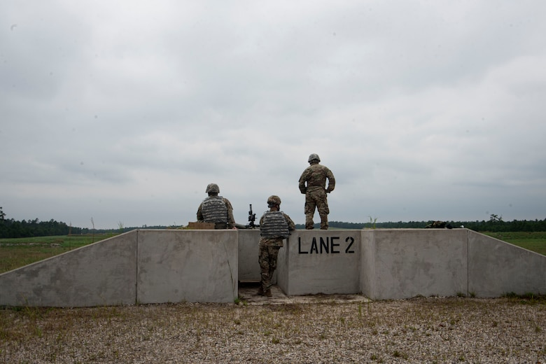 Photo of soldiers standing on a range.
