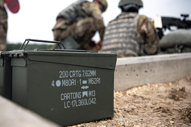 Photo of ammunition resting on the ground.