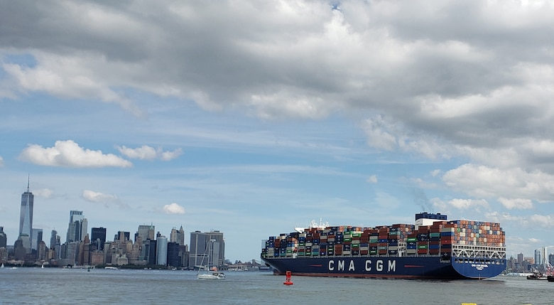 The CMA/CGM Brazil is 1,200 feet long and one of the largest in the world.