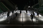 U.S. Marines run up stairs during a stair walk at the San Diego Convention Center, San Diego, Sept. 11.