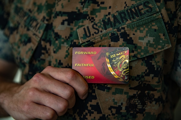 III MEF Marines and sailors to receive their personal III MEF Warrior Card