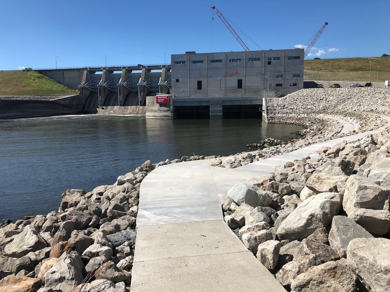 A new walkway in the North Tailwater Recreation Area below Lake Red Rock Dam provides easy access for fishing.