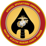 The official seal for U.S. Marine Corps Forces Special Operations Command.