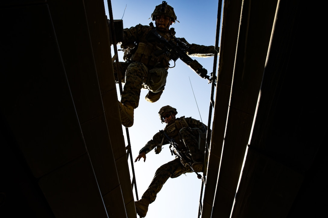 U.S. Marines conduct Assault Amphibious Vehicle egress training during a Marine Corps Combat Readiness Evaluation on Marine Corps Base Camp Pendleton, Calif., Aug. 11.