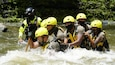 Soldiers from the U.S. Army Reserve-Puerto Rico Urban Search and Rescue Team (US&RT), added a discipline to their specialized skills, by participating in a water rescue training, Sept. 7-11, at several locations around the island. (Photo Credit: Sgt. Katherine Ramos)