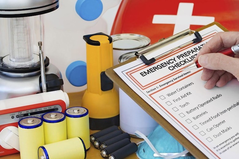 A key step of emergency preparedness is to get a kit together that includes the items needed to sustain a person or family for three days. The kit should be inventoried periodically to ensure it's complete and items are not outdated.