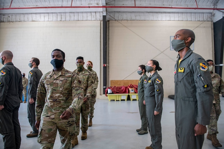 The 4th Aircraft Maintenance Squadron has disbanded its two Aircraft Maintenance Units, the 335th and 336th, to reorganize and integrate into their respective fighter squadrons. The integration is intended to create cohesive units that will be beneficial to future deployments.