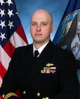 Official portrait of Lt. Joe Zeiser the assistant officer in charge of Navy Information Operations Detachment (NIOC) Groton.