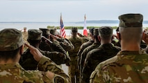 A group of Airmen salute the flag during a 9/11 memorial ceremony at Misawa Air Base, Japan, Sept. 11, 2020. Through participation in these events, the attendees ensured each of the firefighters lost during 9/11 were honored and that the world knows that they will never forget. (U.S. Air Force photo by Airman 1st Class China M. Shock)