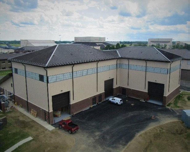 The completed regional maintenance training facility at Joint Base McGuire-Dix-Lakehurst, New Jersey. (U.S. Air Force photo)