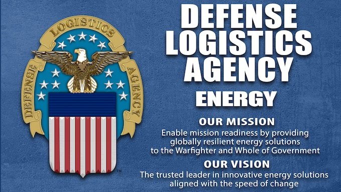 graphic with DLA logo and DLA Energy's new mission and vision statements