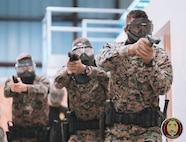 Students of the Military Police Basic Course execute an Active Shooter training scenario. The active shooter threat is one of many use of force scenarios that Military Police personnel specialize in responding to.