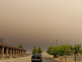 The smoke and ash increasingly diminished visibility and tolerance to remain outdoors. Beale AFB Bio-environmental Engineering reported hourly the decrease in air quality for the personnel and residence.
