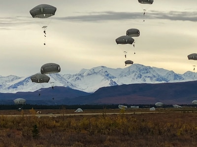 Spartan Paratroopers Execute Joint Forcible Entry