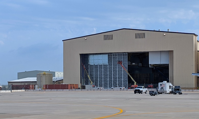 KC-46 corrosion control hangar at Tinker Air Force Base, Oklahoma, a designated maintenance hub for the new refueling tanker. (U.S. Air Force photo)