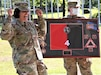 Col. Janene Marshall-Gatling (left), outgoing 4th Brigade (Personnel Services) commander, is all smiles upon receiving a farewell gift from the Soldiers of the 4th Brigade (PS) during the unit's change of command ceremony. The ceremony was held on Victory Field at Fort Jackson, S.C., July 11, 2020. Marshall-Gatling served as the 4th Brigade (PS) commander for two years prior to her relinquishment of command to Col. Aaron Wilkes. (U.S. Army Reserve photo courtesy of 1st Lt. Matthew Rutledge, 4th Brigade (PS), 94th TD-FS)