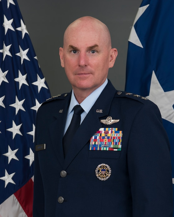 This is the official photo of Lt. Gen. Sam C. Barrett.
