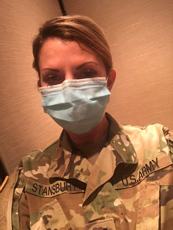 Capt. Emily Stansbury, is an Army Reserve nurse practitioner
