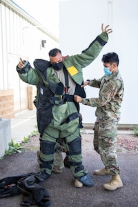 man in bomb uniform