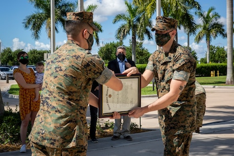 MARFORSOUTH congratulates the newly promoted SSgt Christopher Metrie. Thank you for your dedication to the U.S. Marine Corps.
